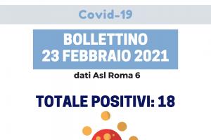Covid-19, aggiornamento del 23 febbraio 2021
